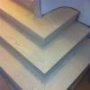 zamontowane schody jesion